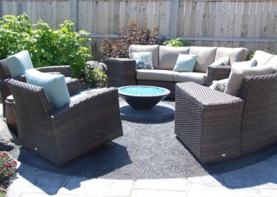 backyard circular seating area