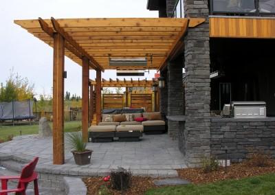 stone patio area