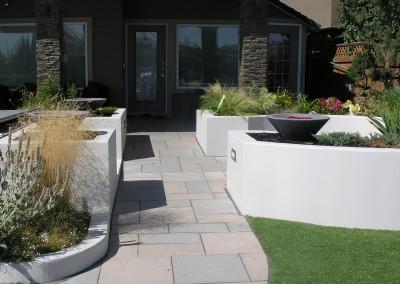 backyard stone walkways to back door
